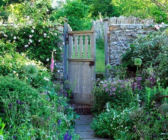 Simple rustic garden door