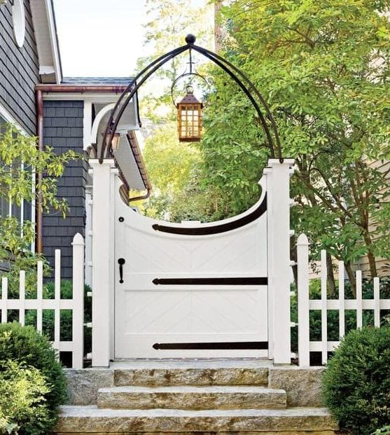 Modern arch and white gate