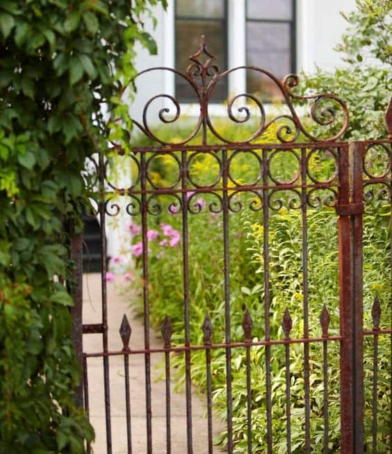 A traditional-style iron gate