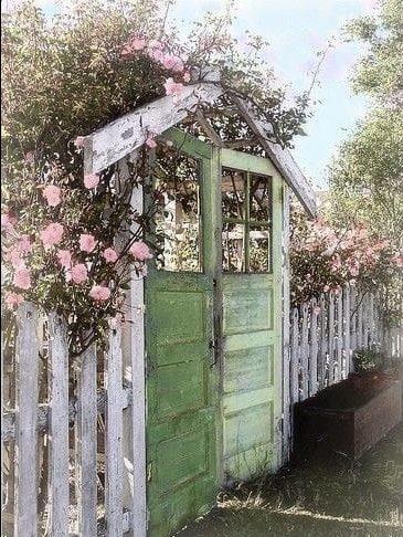 Old wood garden gate