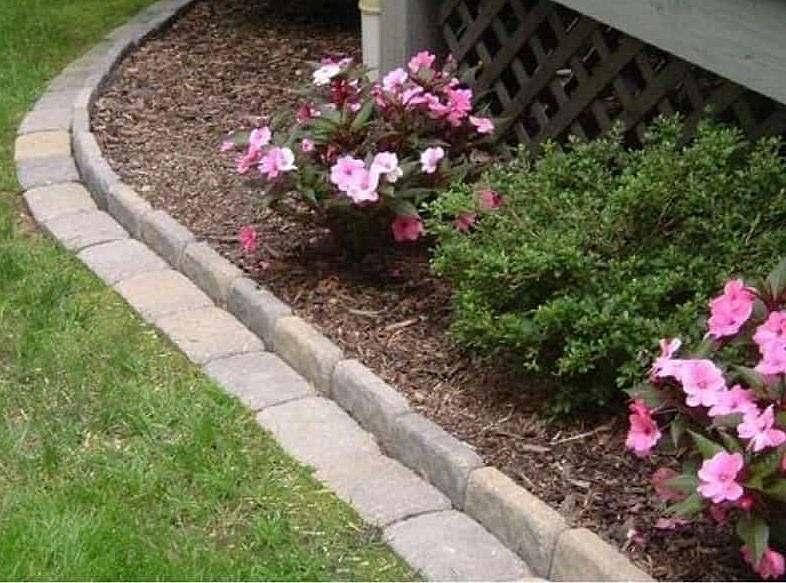 DIY flower curb