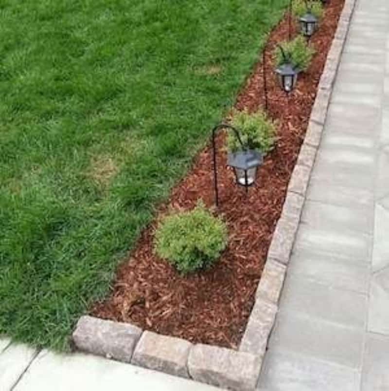 Simple garden bed with lights