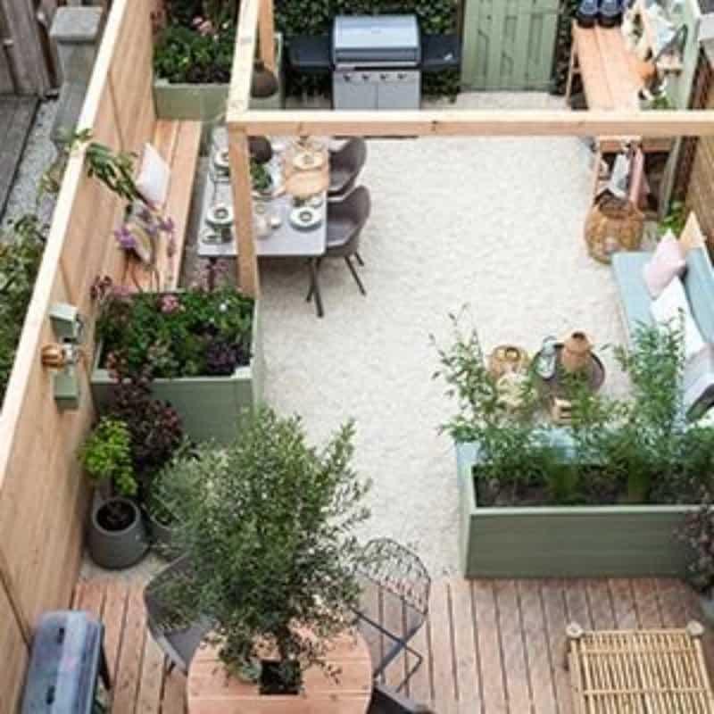 Wooden backyard