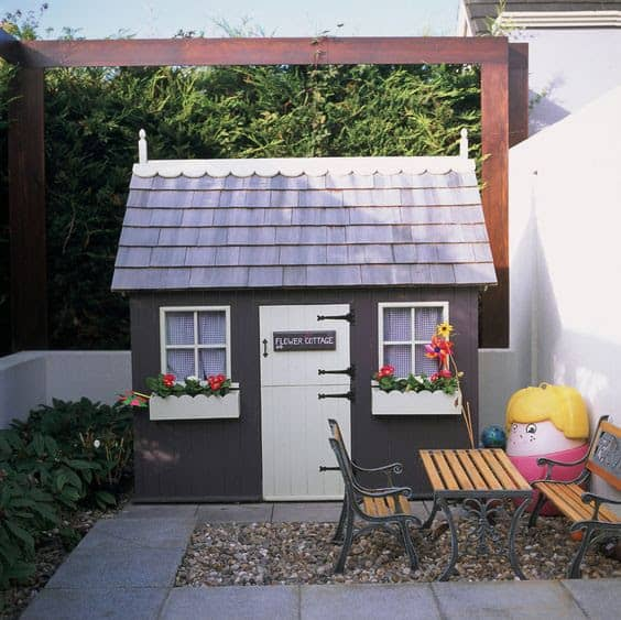 A Wendy house playhouse for children