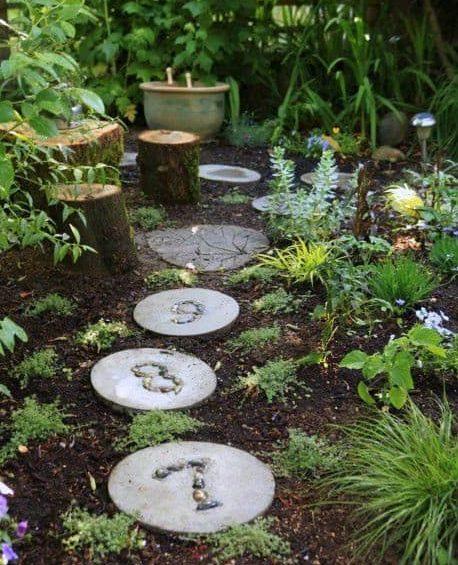 Custom garden stepping stones