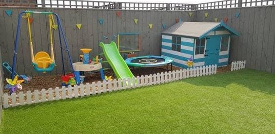 A whole section of a garden dedicated to your kids, a.k.a. the kids area