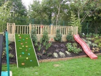 Slope garden slide