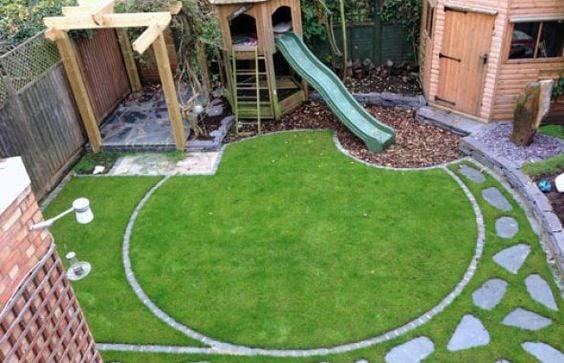 A cute family garden setup