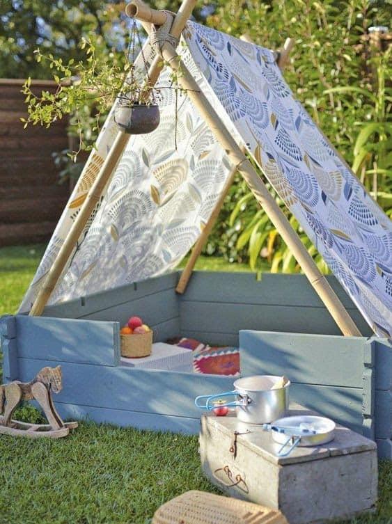 A cute, mini garden tent