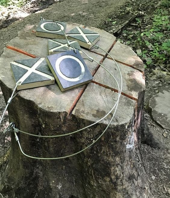 DIY outdoor noughts and crosses
