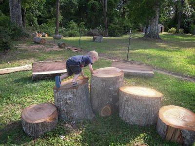 Tree stump agility arena