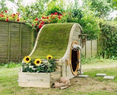 Mini log cabin playhouse for kids