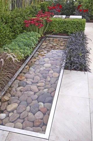 Large pebble pond