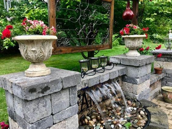 All stone small waterfall