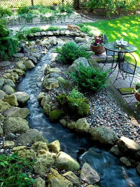 DIY backyard river