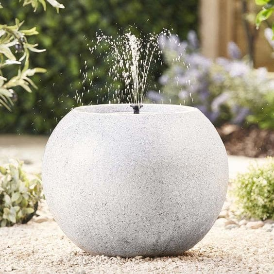 Sandstone sphere water feature