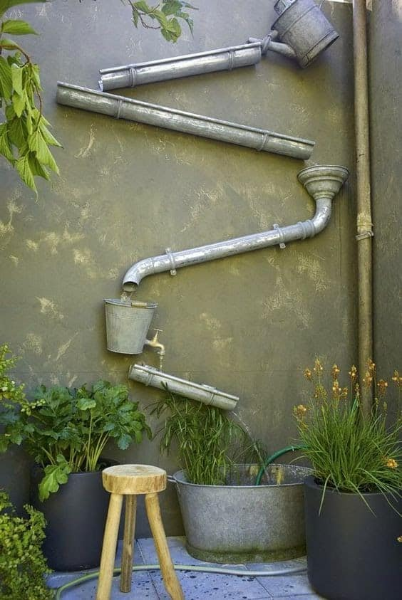 DIY water feature on wall