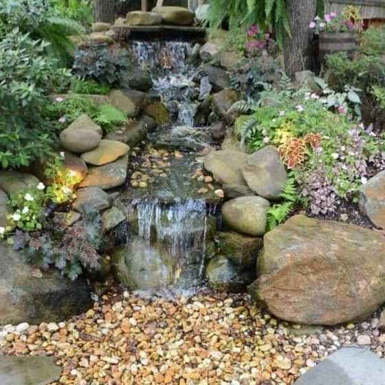 Small backyard creek
