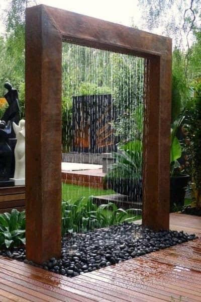 Massive garden water wall
