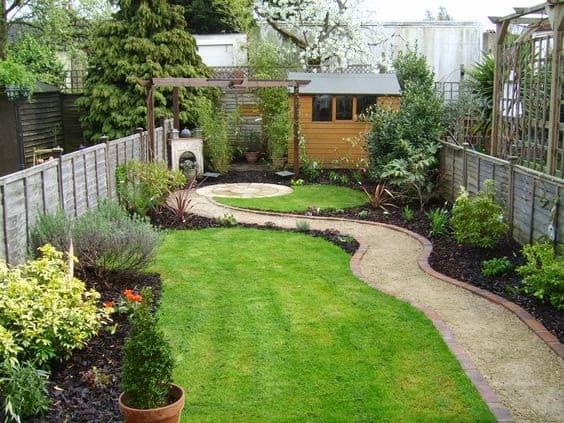 A small, perfect path for a long, narrow garden