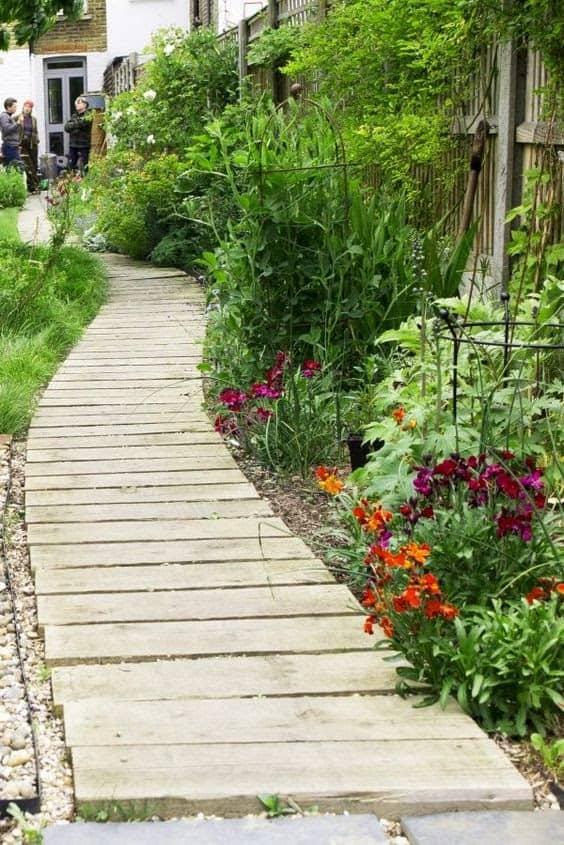 A soft wooden path
