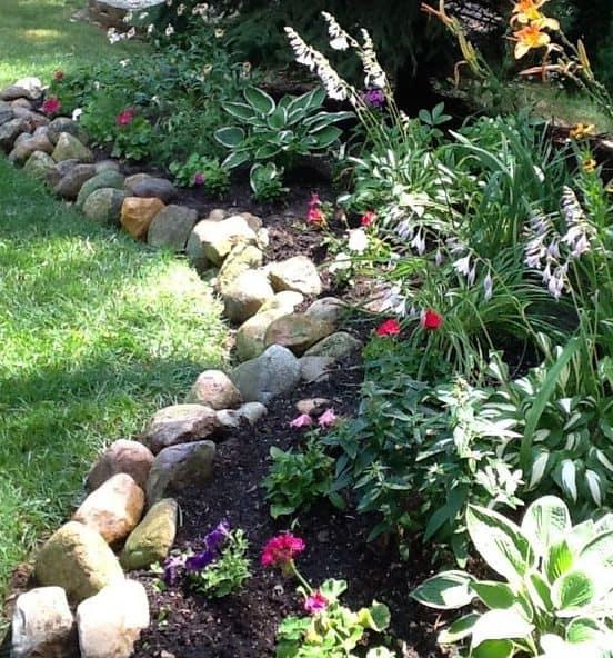 Rocks garden bed