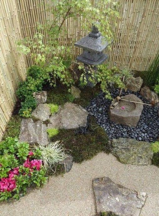 Small Japanese corner garden