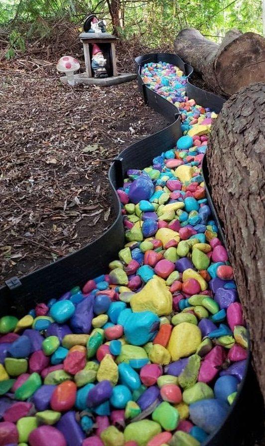Rocky colourful river