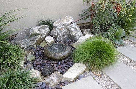 Minimalist tranquil garden