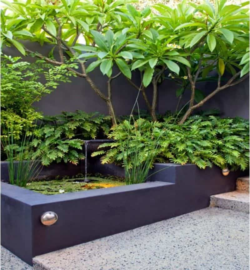 Cedar blocks as garden beds