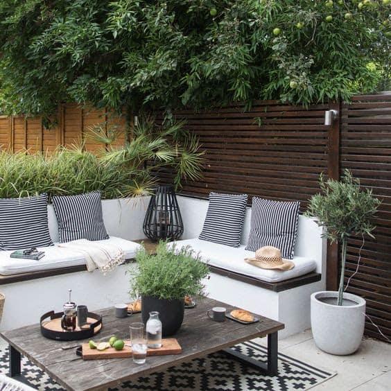 L-shaped garden sofa