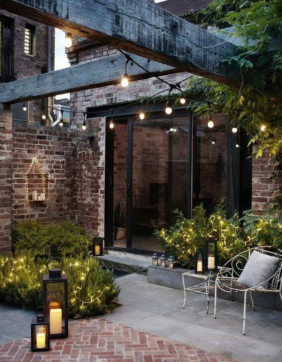 Small backyard lighting