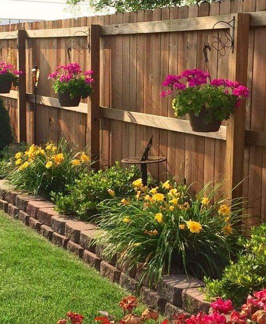 Side flower beds