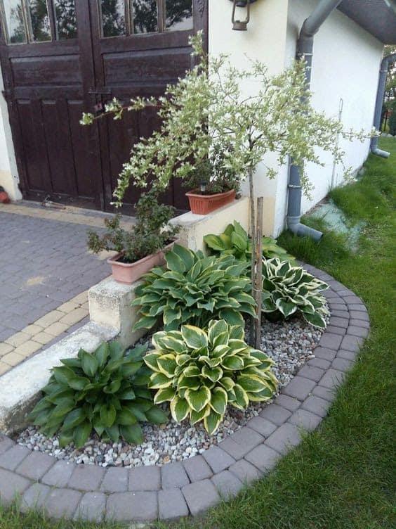 Classy stone garden bed