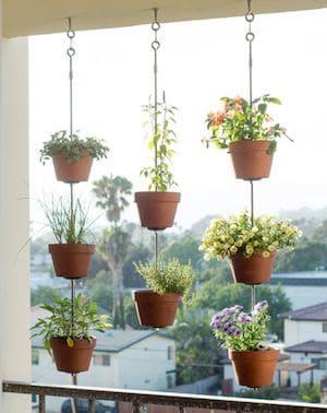 Balcony hanging pots