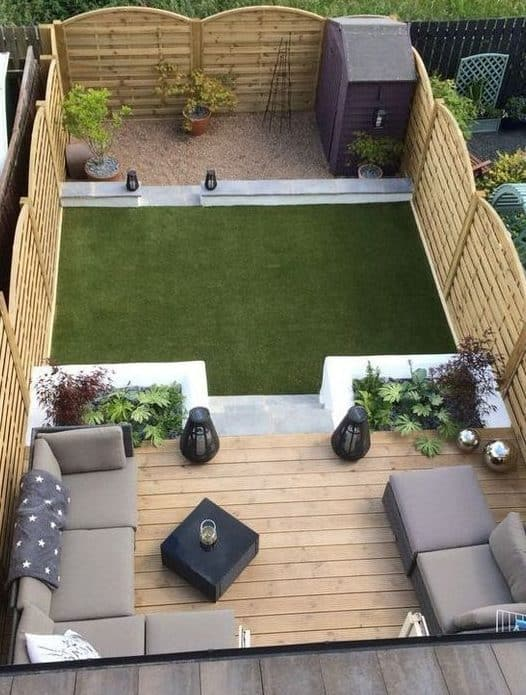Small garden with deck