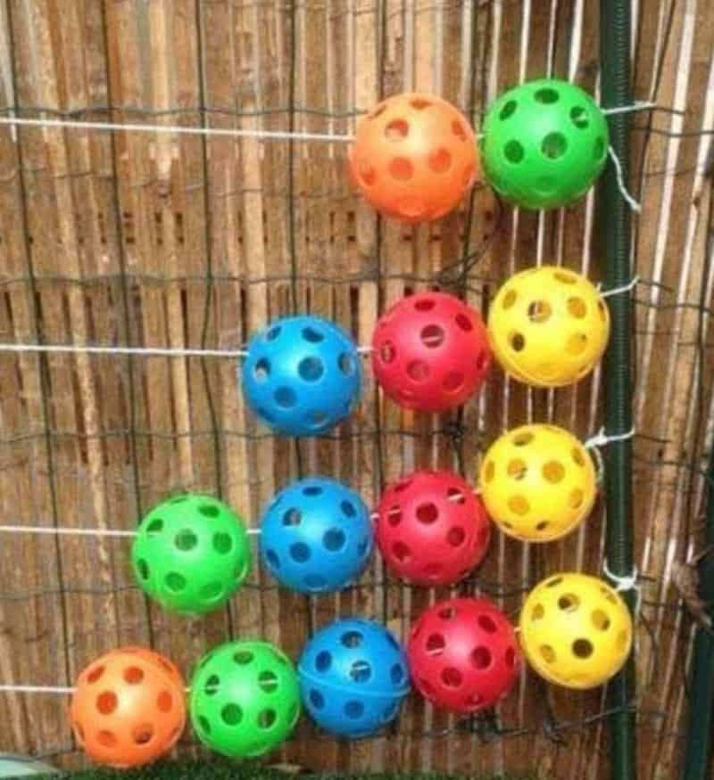 Brightly coloured balls abacus