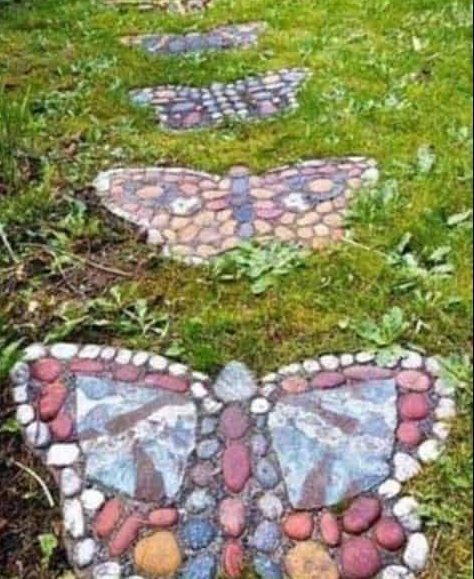 DIY butterfly stepping stones