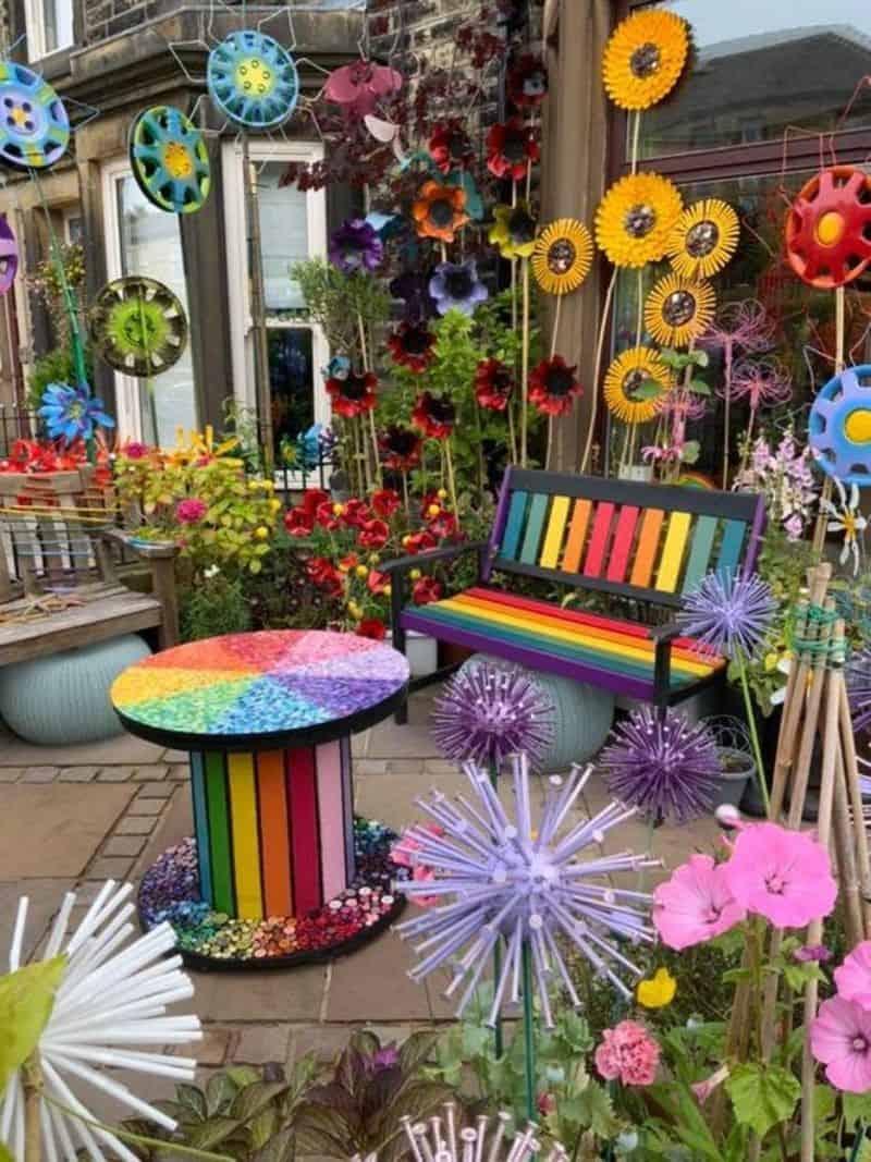 Rainbow backyard