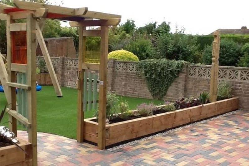 Playground and garden bed
