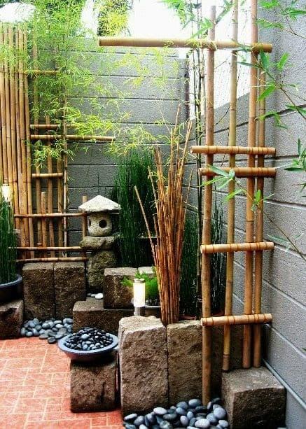 Small zen garden space