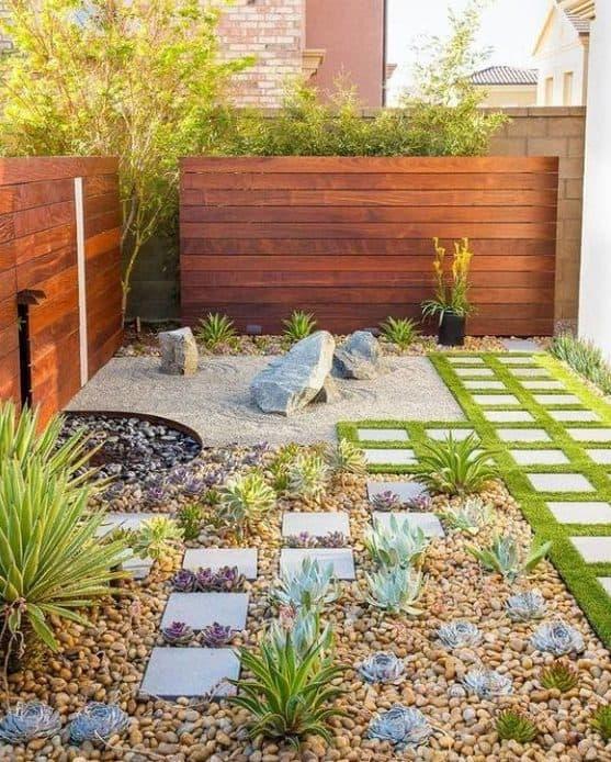 Bright small garden