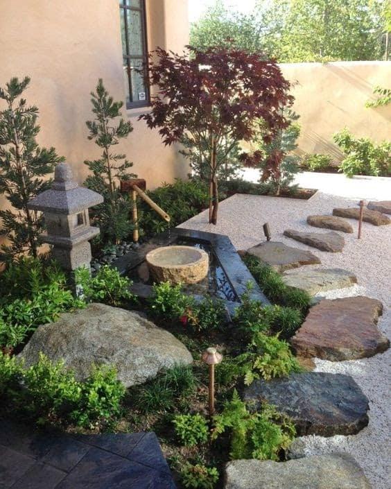 A zen corner garden