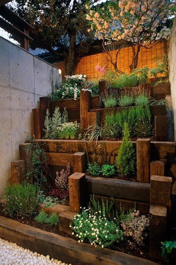 Japanese step garden