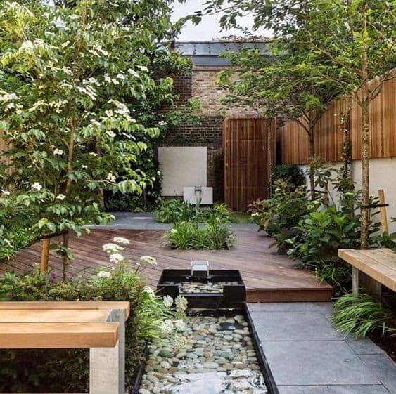 Modern slim garden