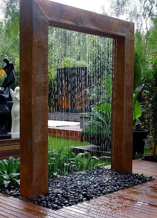 Oriental vertical waterfall
