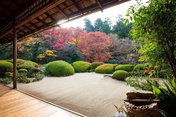 Open simple zen garden