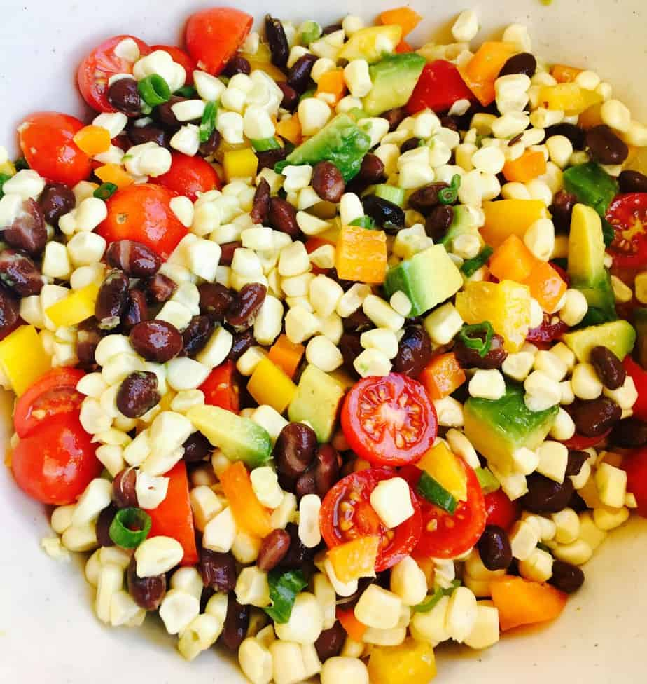 Santa Fe corn salad with beans