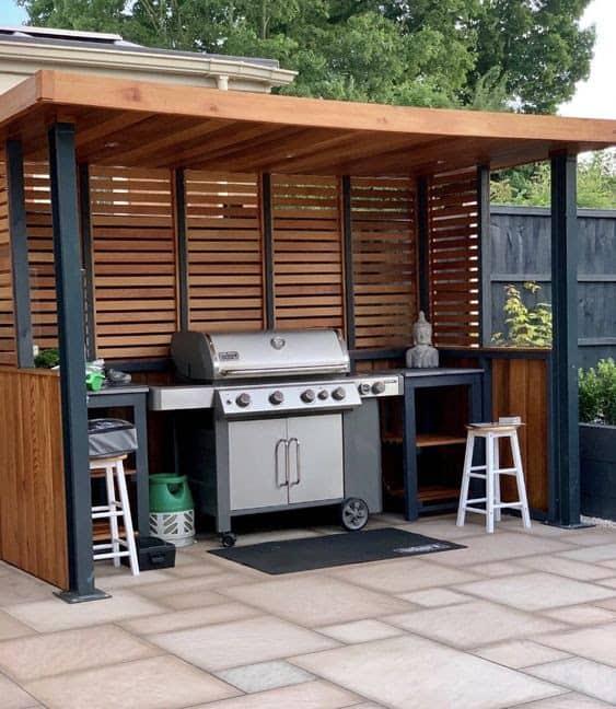 Modern open BBQ shack