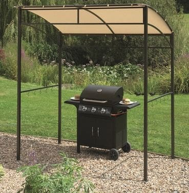 Simple BBQ shelter with a gazebo